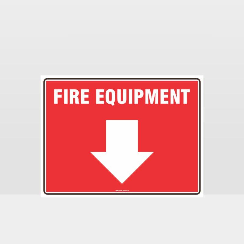 Fire Equipment Sign