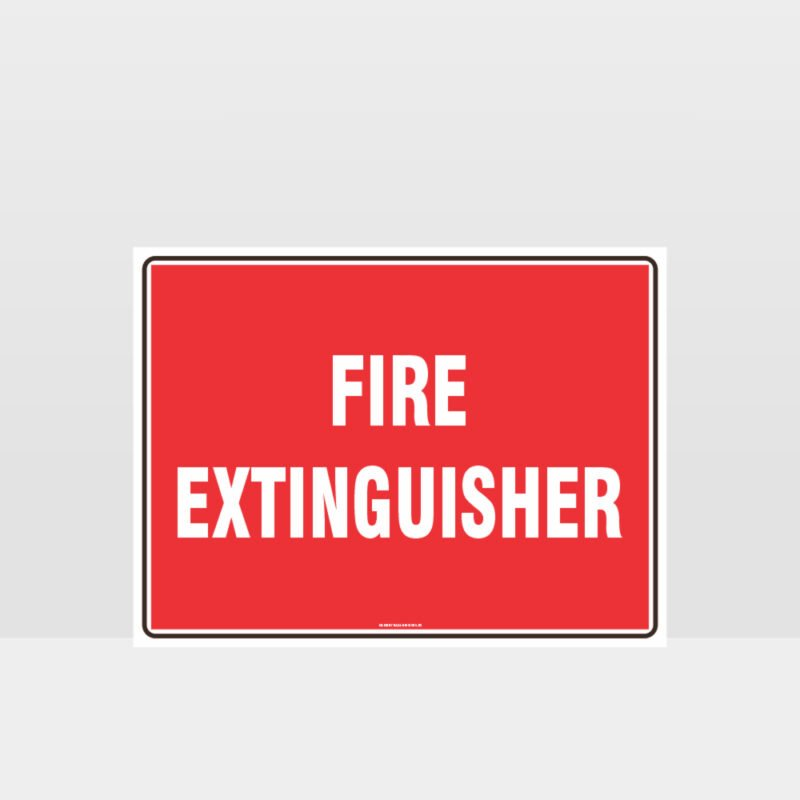 Fire Extinguisher Text Sign