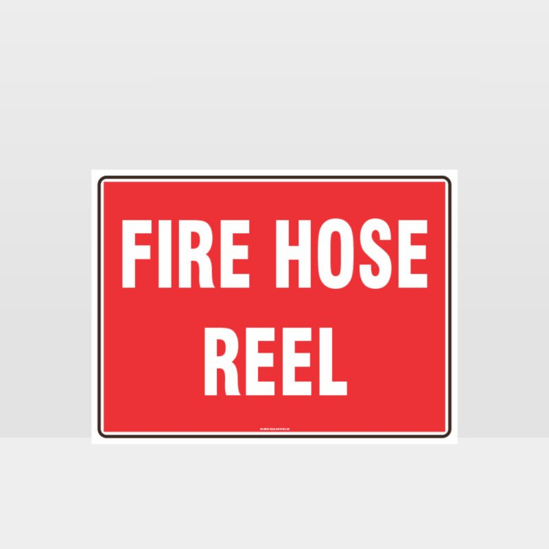 Fire Hose Reel Text Sign