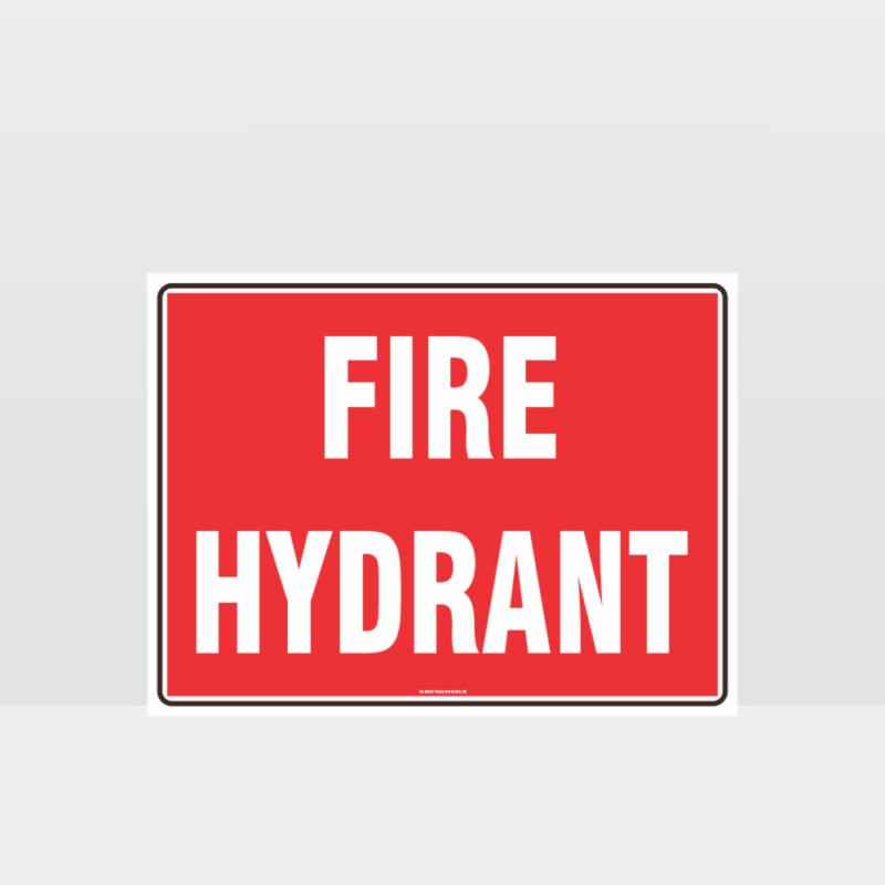 Fire Hydrant Text Sign