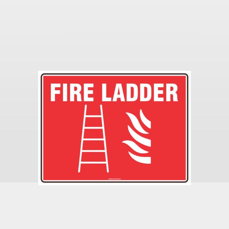 Fire Ladder Sign