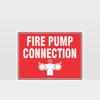 Fire Pump Connection Sign