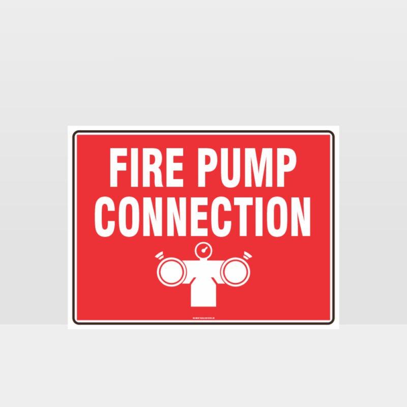 Fire Pump Connection Sign