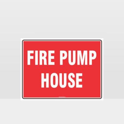 Fire Pump House Sign