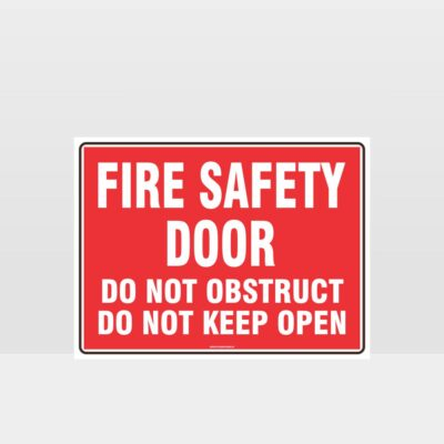 Fire Safety Door No Obstruction Sign