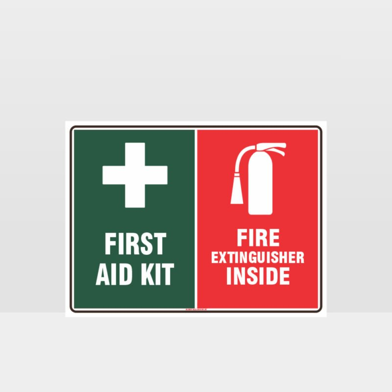 First Aid Fire Extinguisher Sign