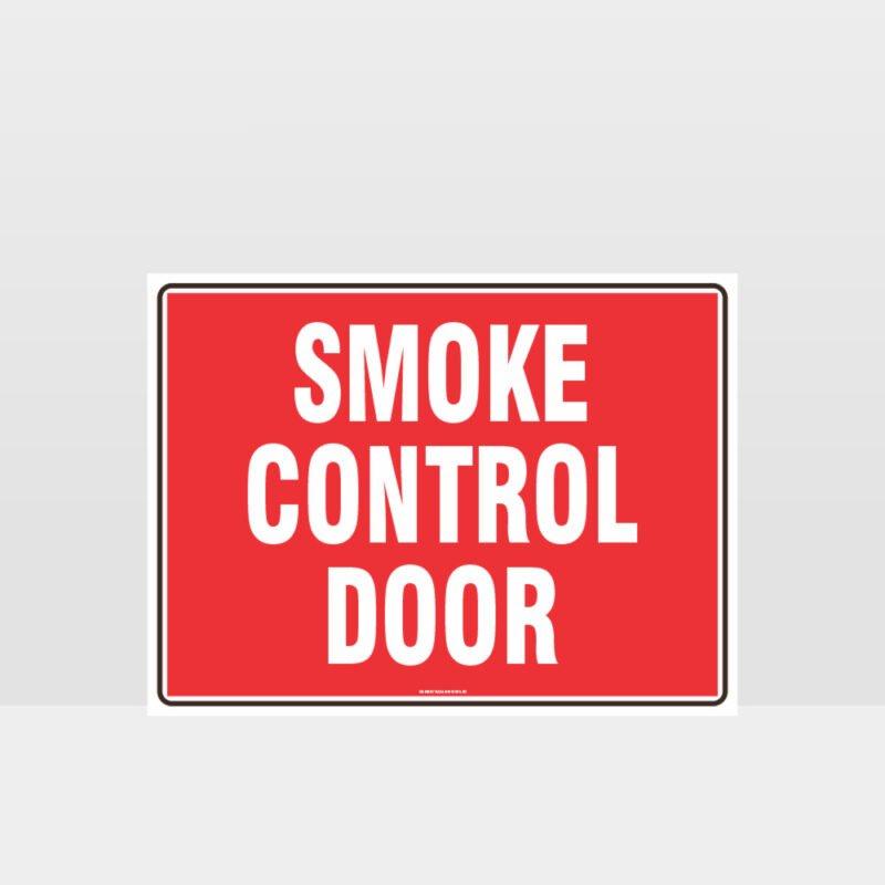 Fire Smoke Control Door Sign
