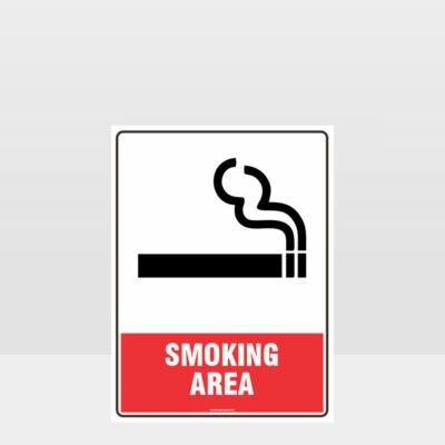 Prohibition Smoking Area Sign
