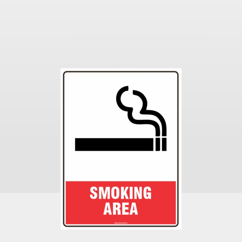Prohibition Smoking Area Sign