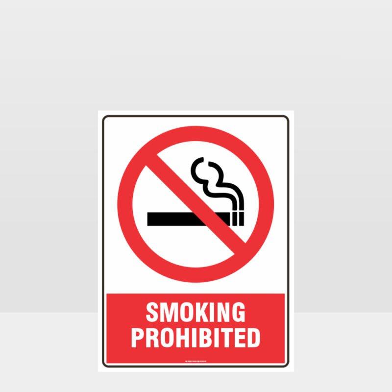 Prohibition Smoking Prohibited Sign