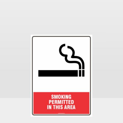 Prohibition This A Smoking Permitted In This Area Sign