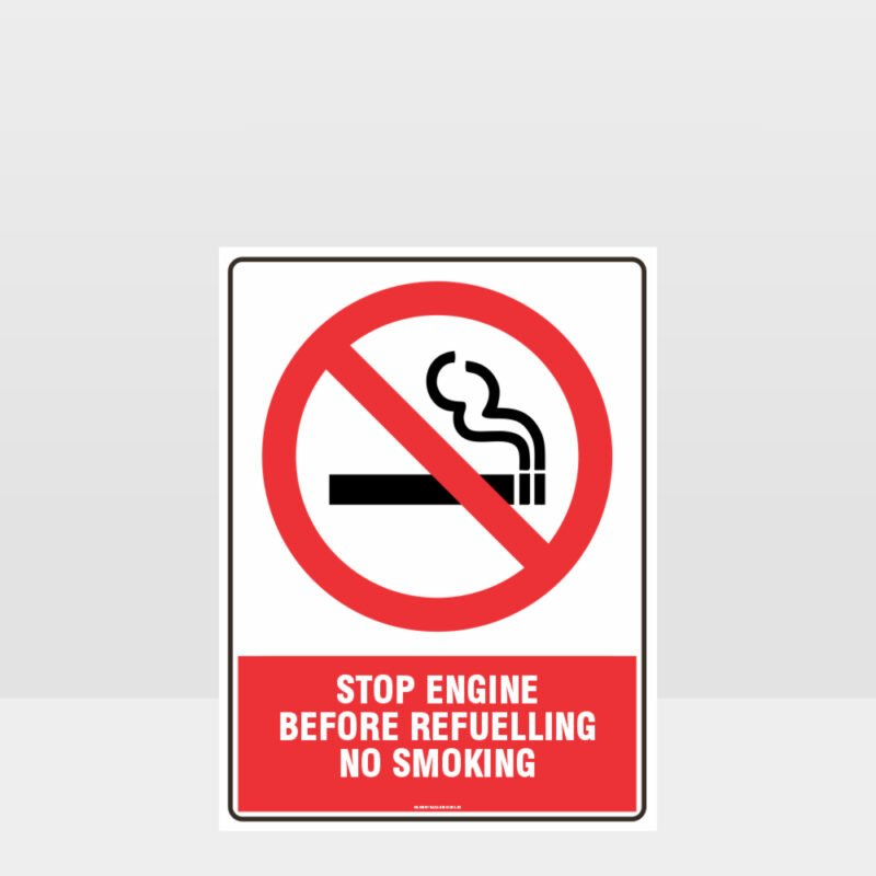 Prohibition Stop Engine Sign