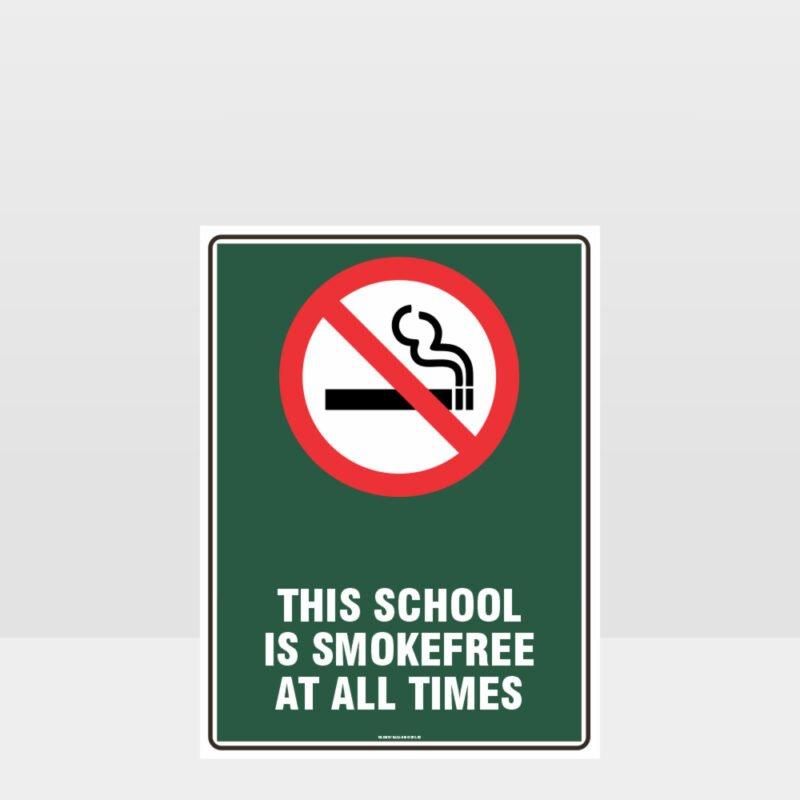 Prohibition School Is Smoke Free Sign
