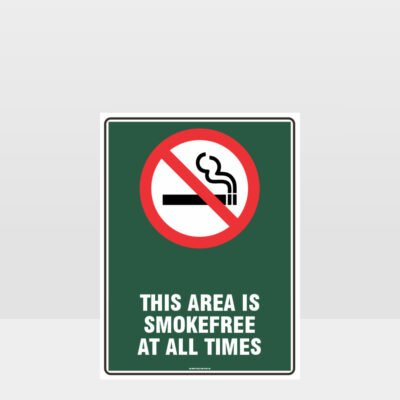 Prohibition This Area Is Smoke Free At All Times Sign