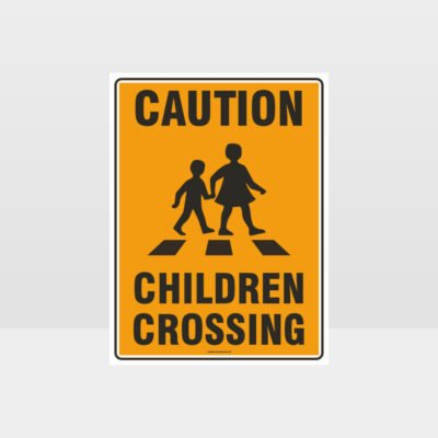 Caution Children Crossing Sign