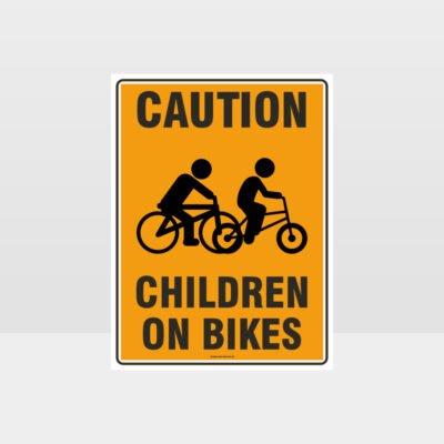 Caution Children On Bikes Sign