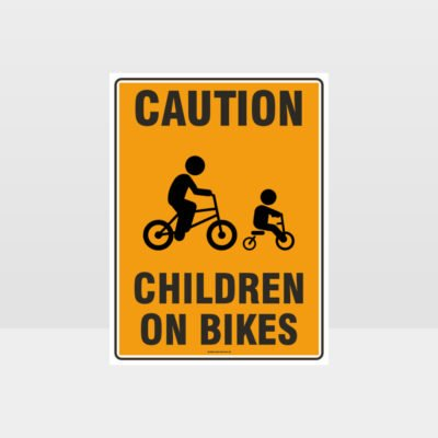 Caution Children On Bikes 01 Sign