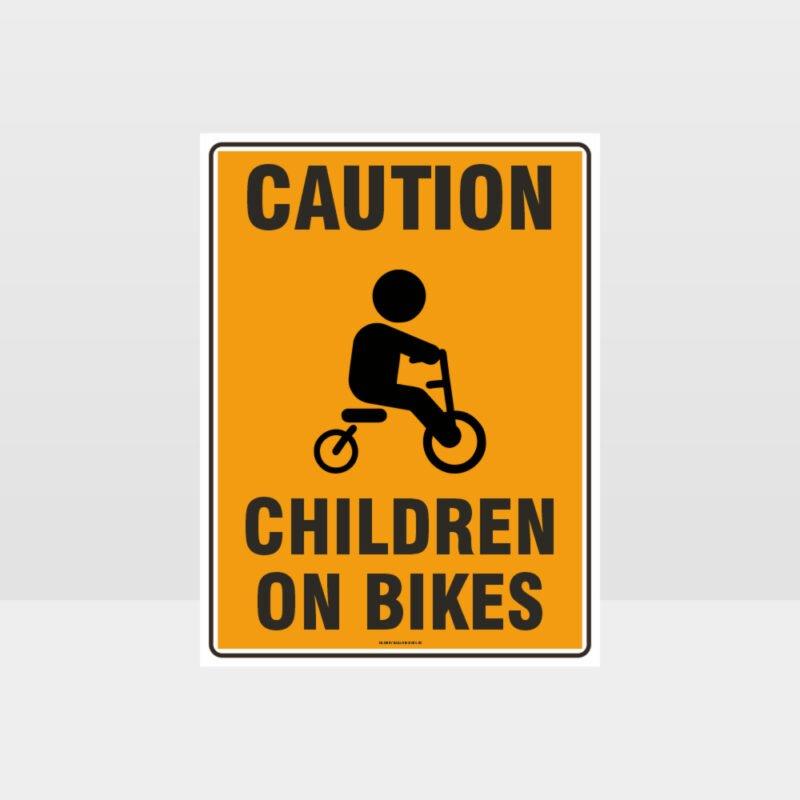 Caution Children On Bikes 02 Sign