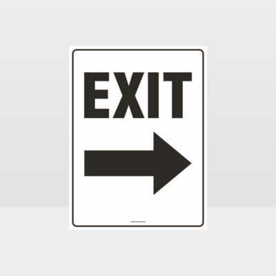 Exit Right Arrow Sign