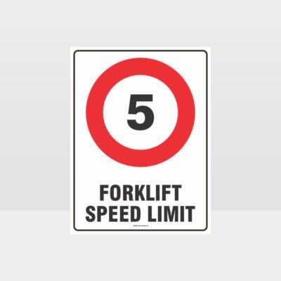Forklift Speed Limit 5km Sign