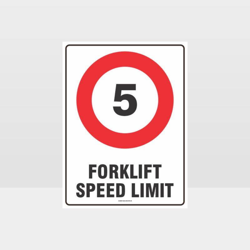 Forklift Speed Limit 5km Sign