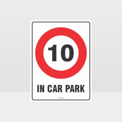 10 Km In Car Park Sign