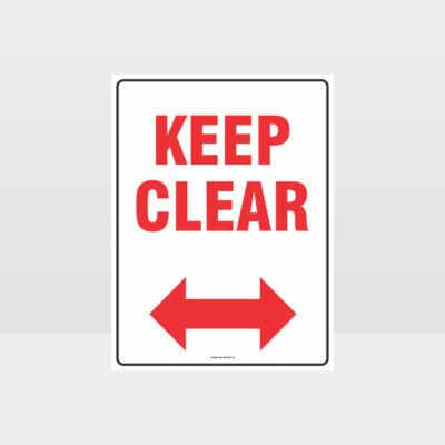 Keep Clear left And Right Arrow Sign