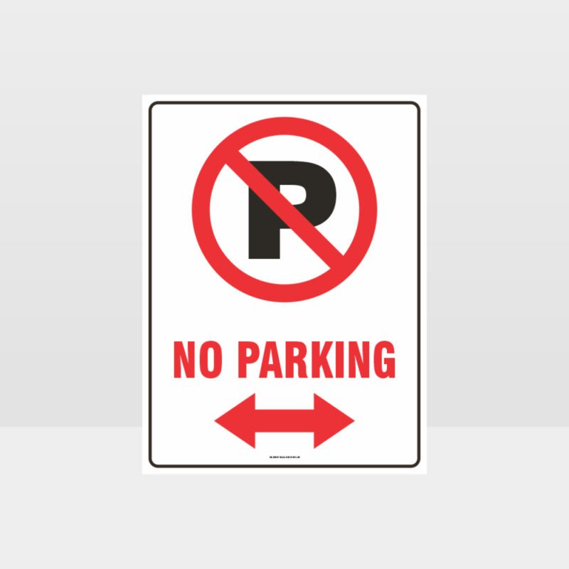No Parking Left And Right Arrow Sign