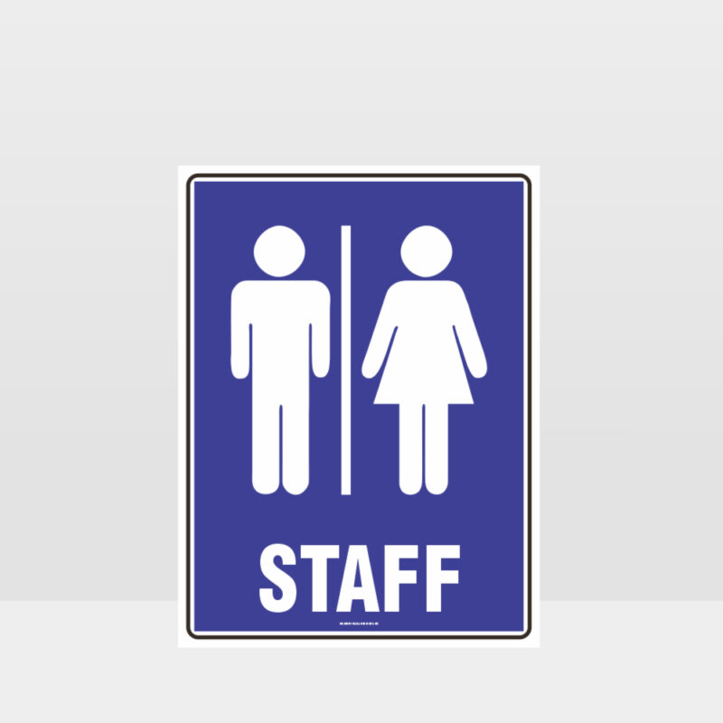 Staff Toilet Sign