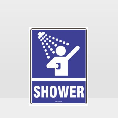 Shower Sign
