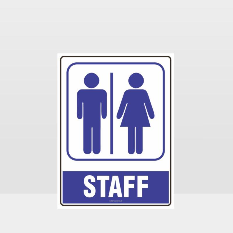 Staff Toilet Symbol Sign