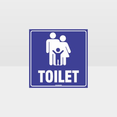 Family Toilets Sign