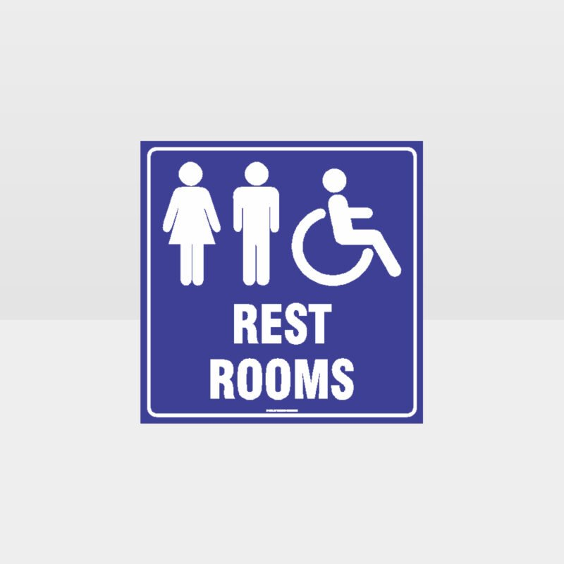 Rest Rooms Sign 2