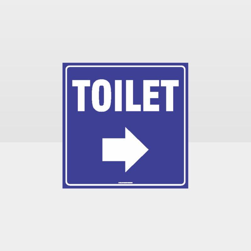 Toilet Right Arrow Sign