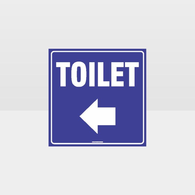 Toilet Left Arrow Sign