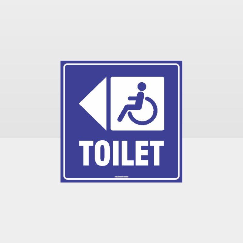 Accessible Toilet Left Arrow Sign