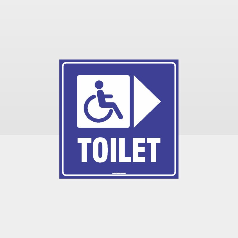 Accessible Toilet Right Arrow Sign