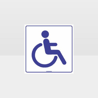 Accessible Toilets White Background Sign