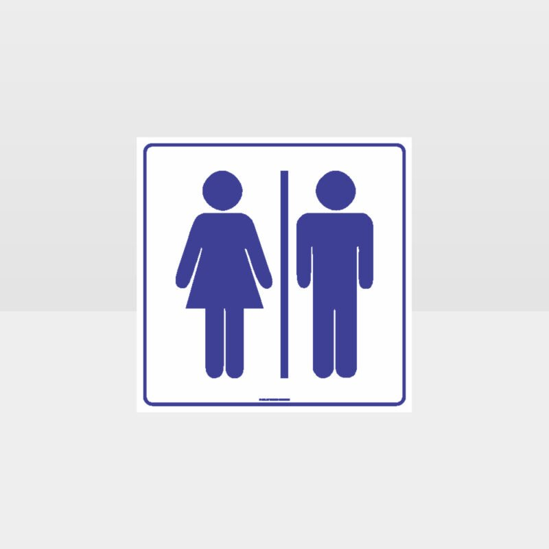 Male And Female Toilets Sign