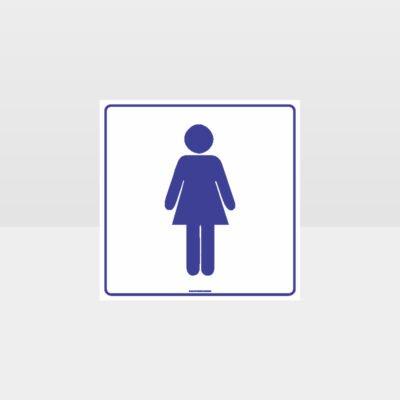Female Toilet White background Sign