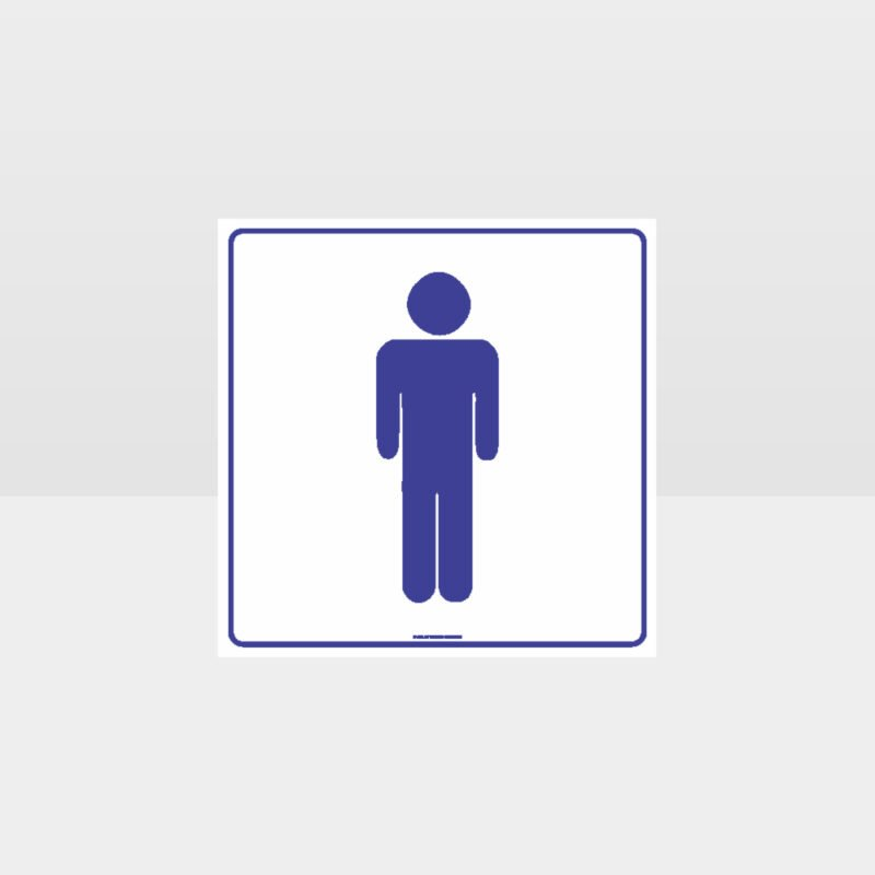 Male Toilet White background Sign