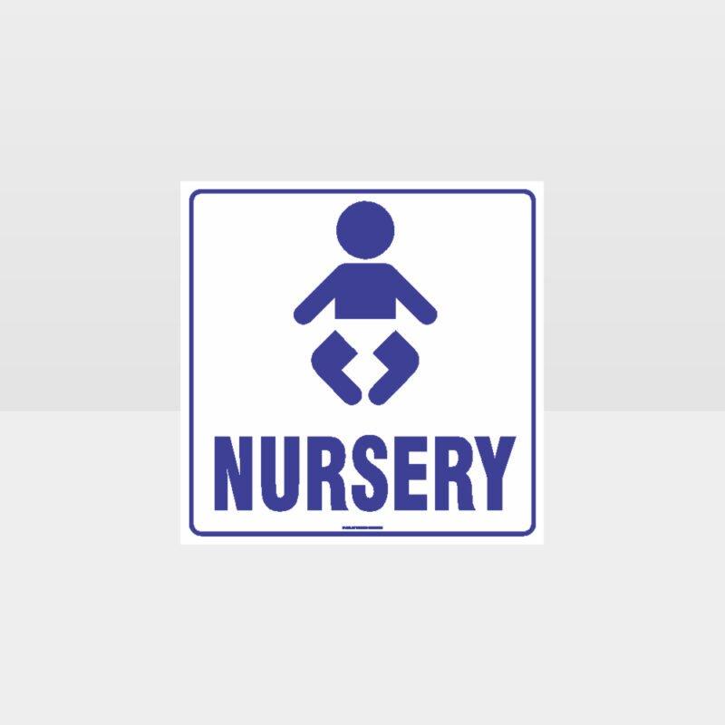 Nursery White background Sign