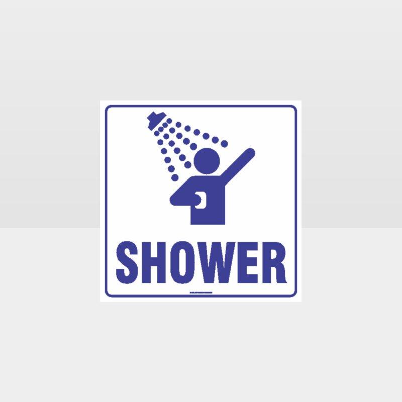 Shower White background Sign