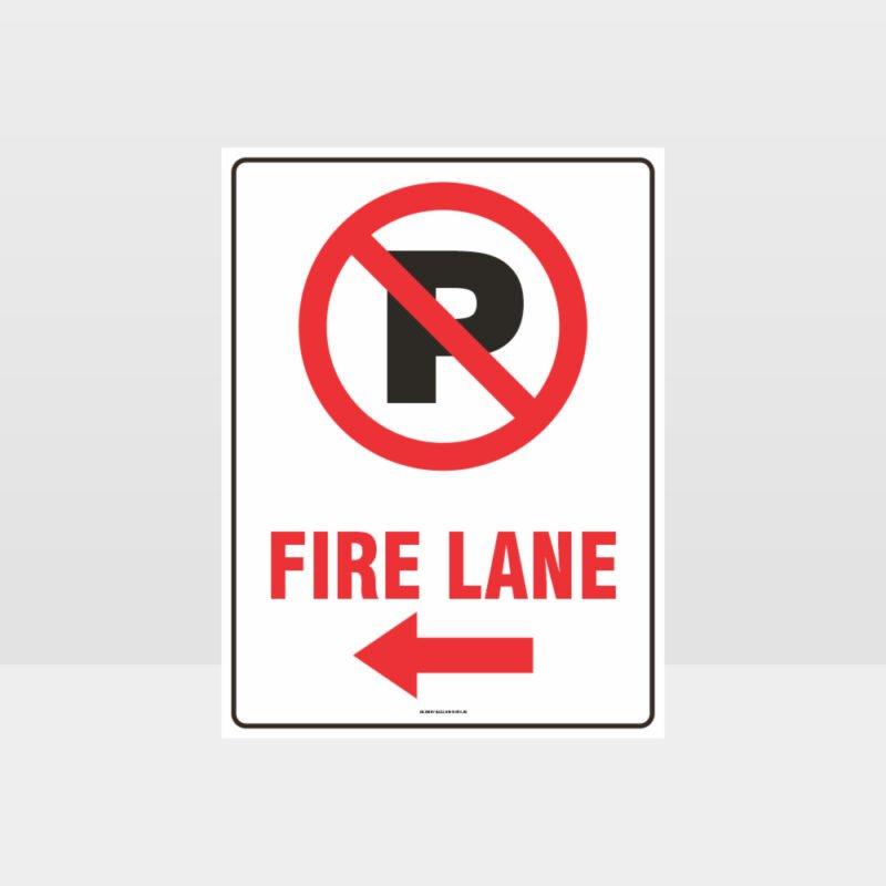 Fire Lane Left Arrow Sign