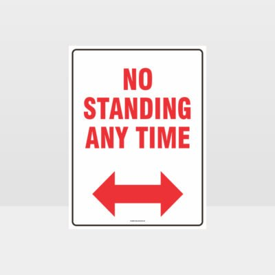 No Standing Any Time Left And Right Arrow Sign