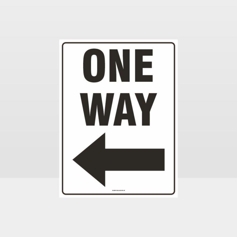 One Way Left Arrow Sign