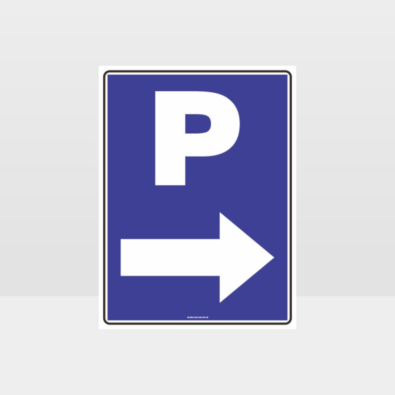 P Parking Right Arrow Sign
