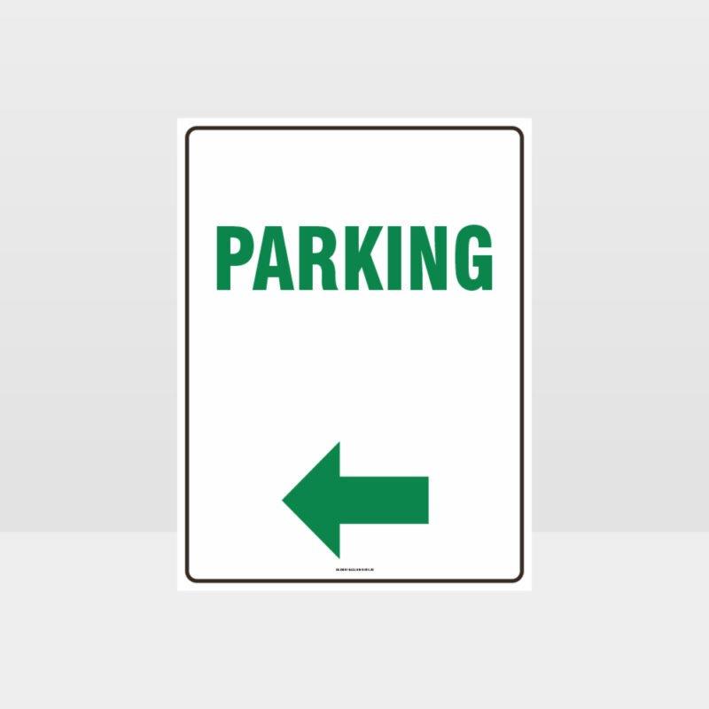 Parking Left Arrow Sign