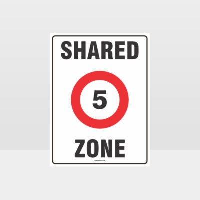 5 Shared Zone Sign