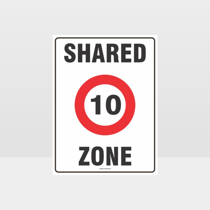 10 Shared Zone Sign